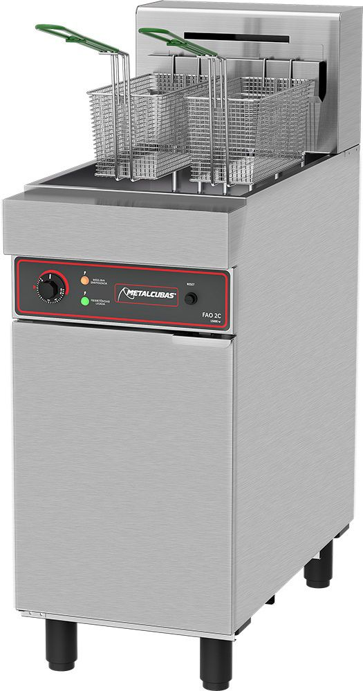 Fritadeira Industrial Elétrica Metalcubas 15000W - FAO 2 C  - Carmel Equipamentos