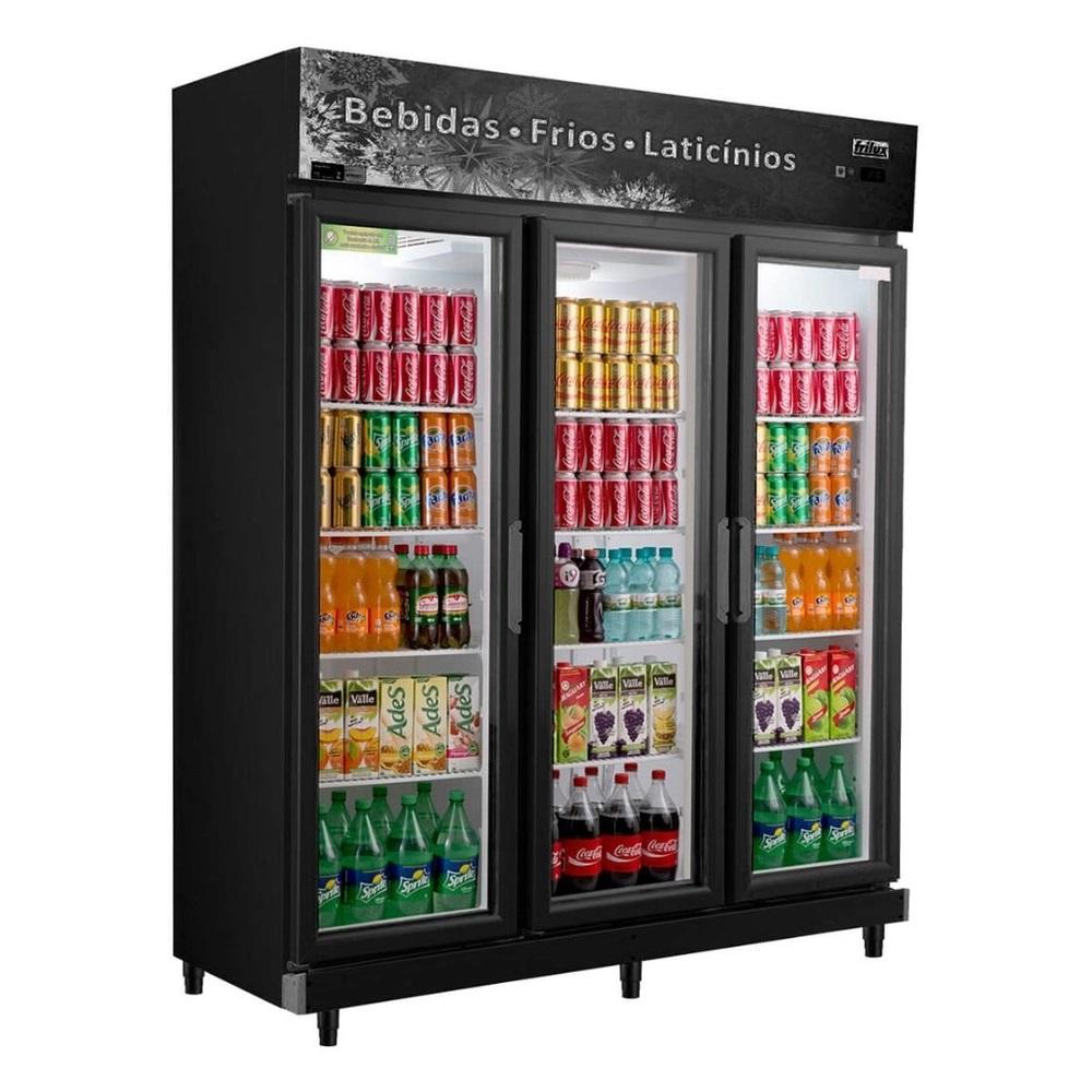 Geladeira Expositora Vertical Refrigerador de Bebidas RF-022 1050 Litros 3 Portas - Frilux