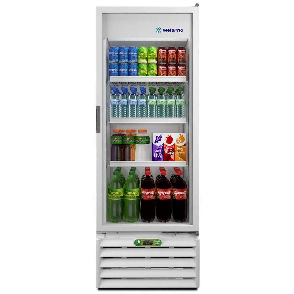 Geladeira Refrigerador Expositor Vertical 406L Porta Vidro VB40RL Branco R290 - Metalfrio  - Carmel Equipamentos