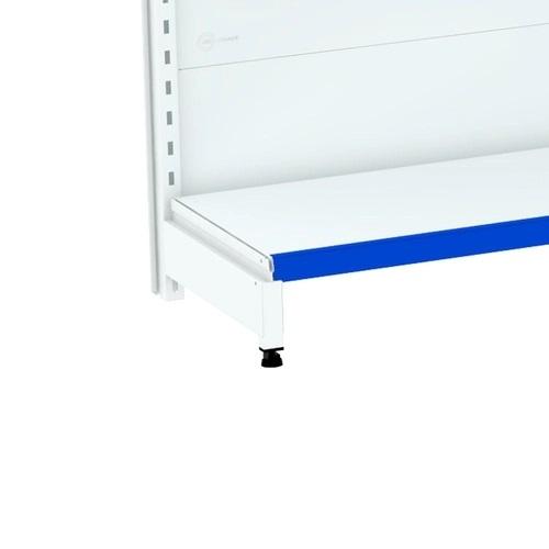 Gondola Central Com 1 Inicial e 10 Continuações Flex 40 Porta Etiquetas Azul - Amapá  - Carmel Equipamentos