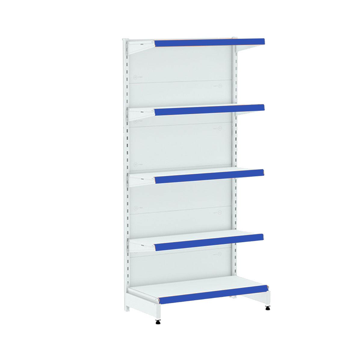 Gôndola Parede Lateral 1 Inicial e 4 Continuação 1,70 de Altura Porta Etiqueta Azul - Amapá  - Carmel Equipamentos