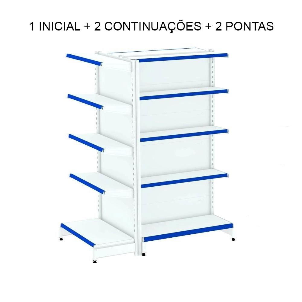 Gondolas Centro 1 inicial + 2 continuação + 2 pontas - Amapá  - Carmel Equipamentos