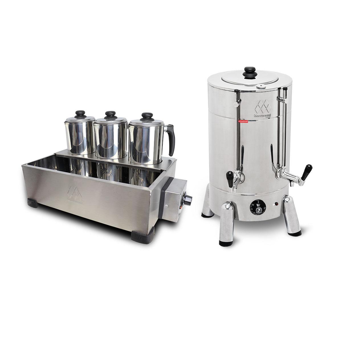 Kit Cafeteira Tradicional 4 Litros 1300 W + Esterilizador 3 Bules Com Termostato - Marchesoni - 220 V