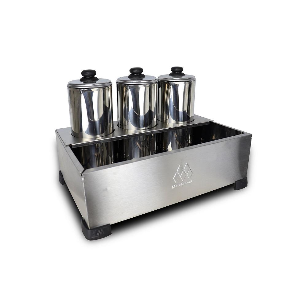Kit Cafeteira Tradicional 6 Litros 1300 W + Esterilizador 3 Bules Com Termostato - Marchesoni - 220 V  - Carmel Equipamentos