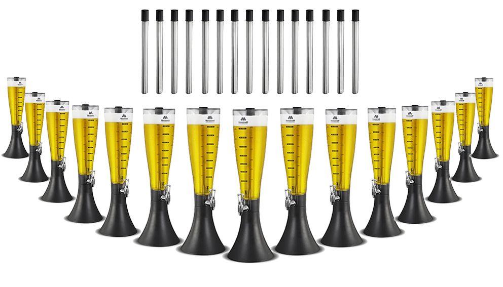 KIT com 15 Torres de Chopp MarcBeer e 15 Refil Extra Marchesoni 2,5 Litros - MB2250  - Carmel Equipamentos