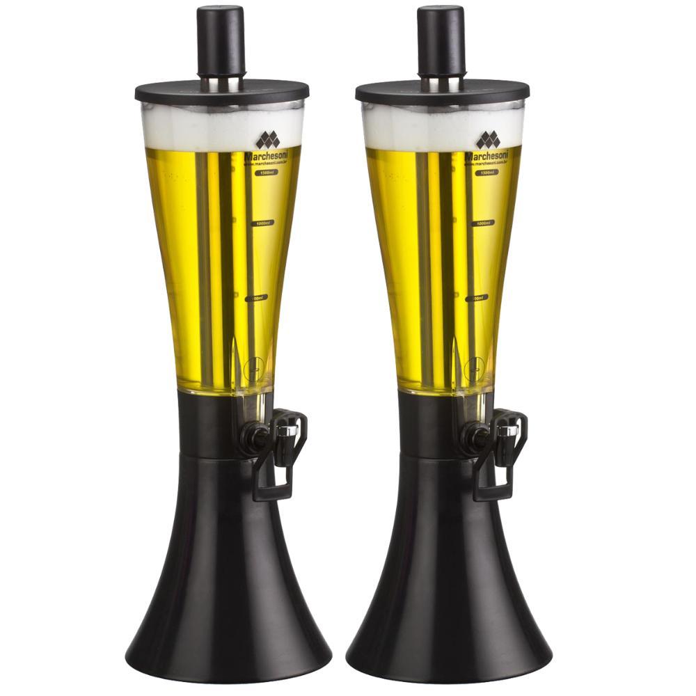 Kit com 2 Torre de Chopp Marcbeer 1,5 Litros - Marchesoni  - Carmel Equipamentos