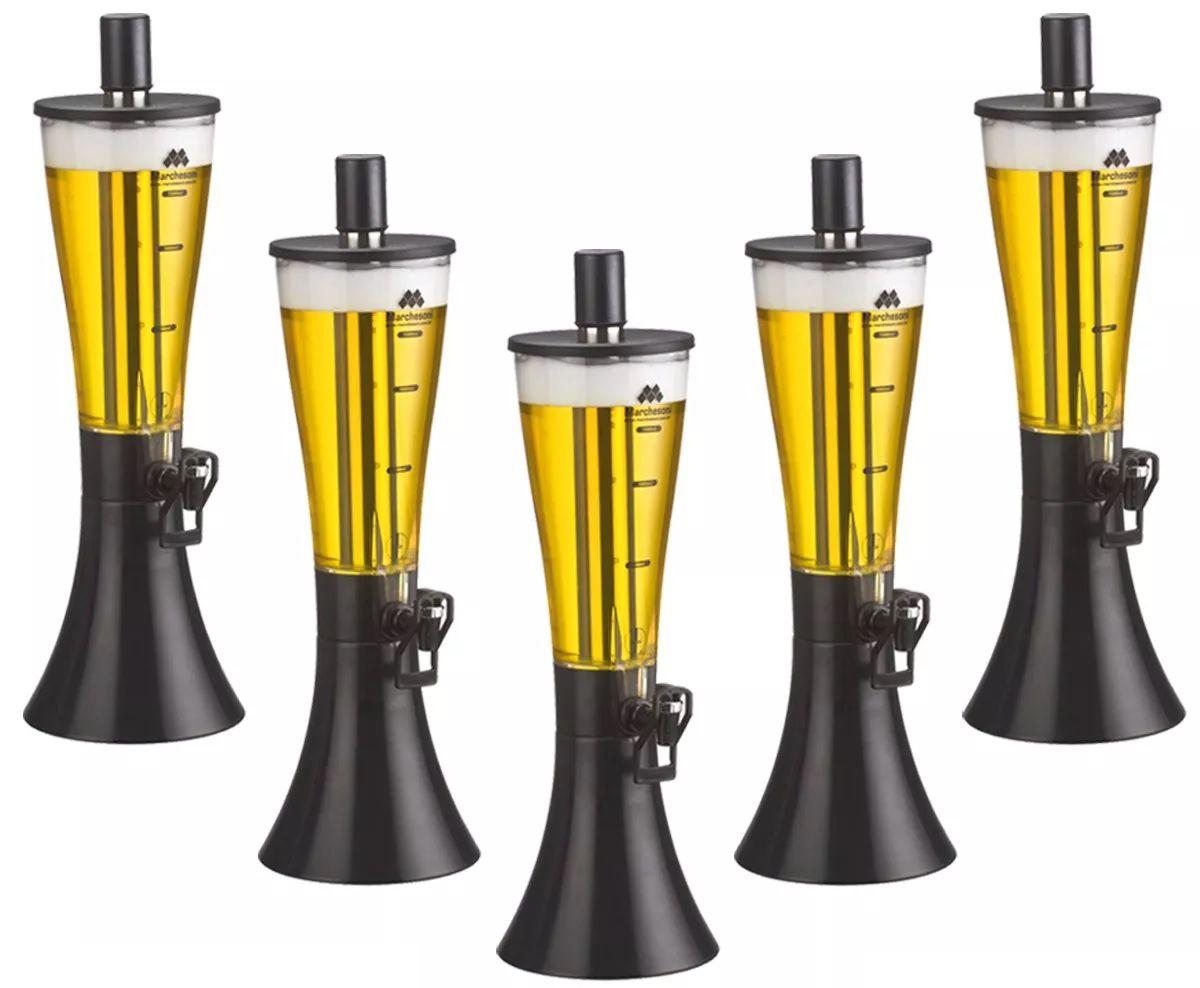 Kit com 5 Torres de Chopp MarcBeer Marchesoni 1,5 Litros - Mb2150  - Carmel Equipamentos