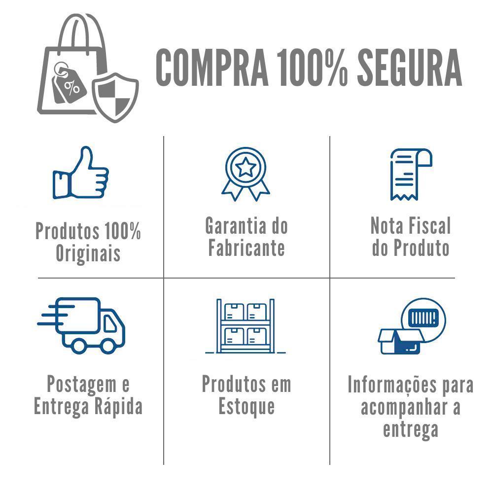 Kit Gôndola Central Supermercado Com 1,70m de Altura 1 Ponta 1 Inicial e 5 Continuações Com Porta Etiquetas Azul - Amapá  - Carmel Equipamentos