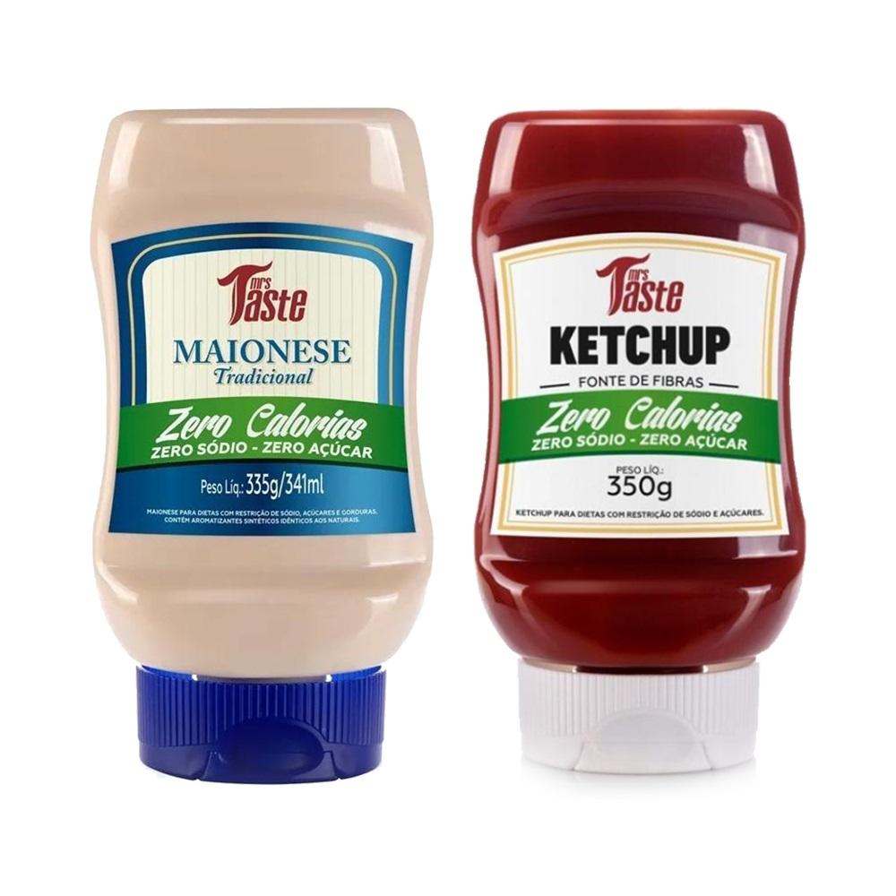 Kit Ketchup e Maionese Lanches Zero Calorias Mrs Taste  - Carmel Equipamentos