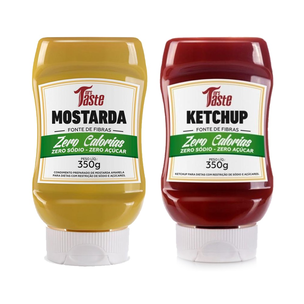 Kit Ketchup e Mostarda Lanches Zero Calorias Mrs Taste  - Carmel Equipamentos