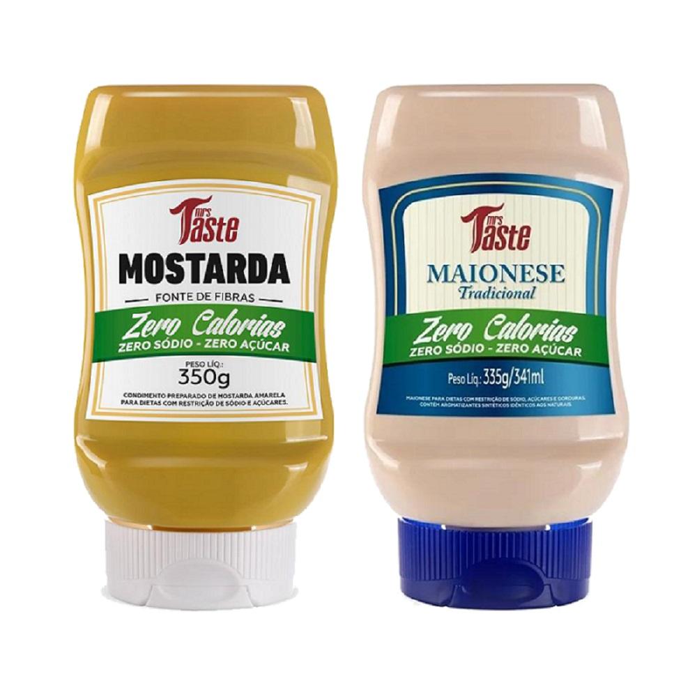 Kit Lanche Mostarda e Maionese Zero Calorias Mrs Taste  - Carmel Equipamentos