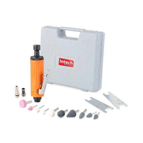 Kit Mini Retífica Pneumática De 1/4 Pol Intech Machine Pn500  - Carmel Equipamentos