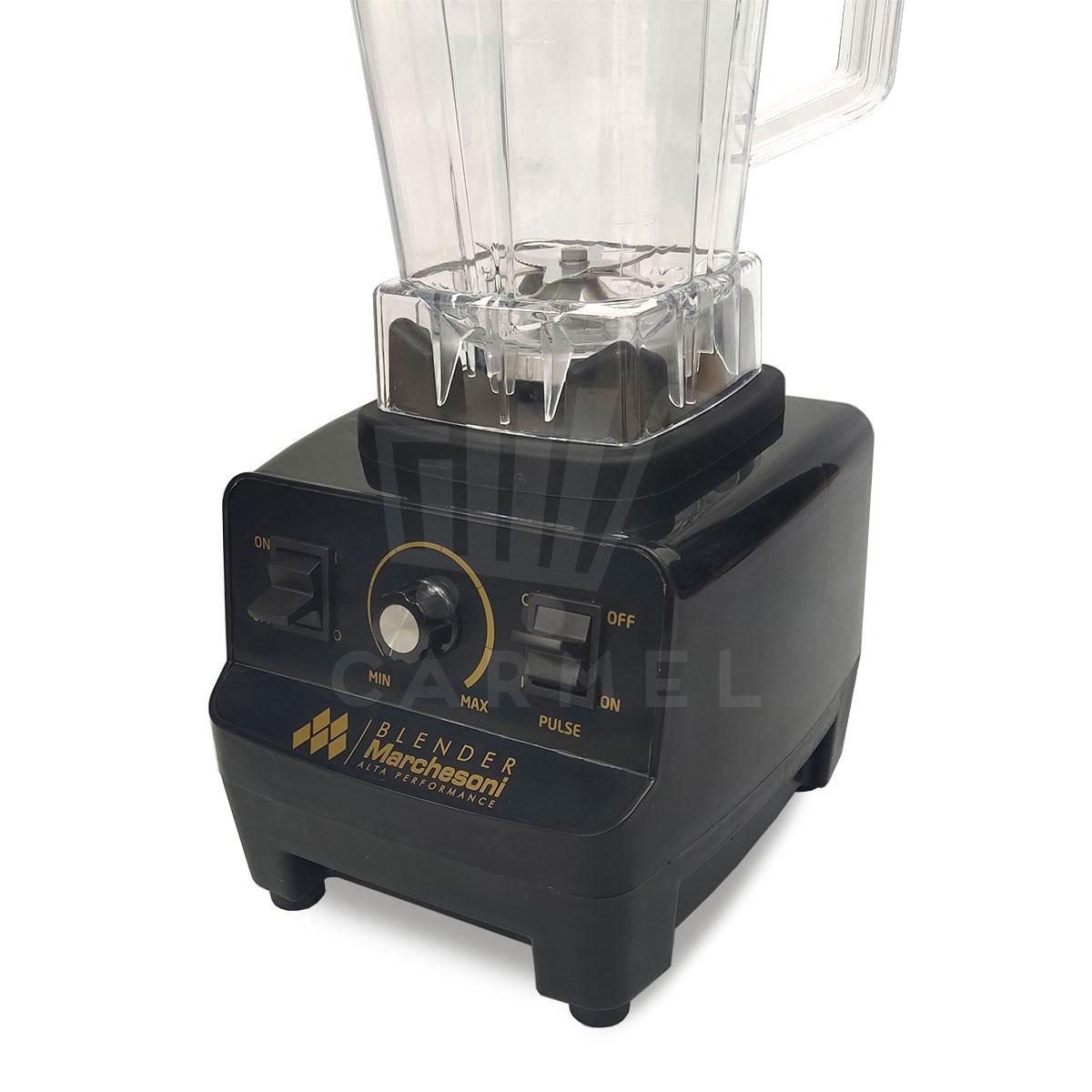 Liquidificador 2 Litros Blender Alta Performance 1400 W Preto Marchesoni  - Carmel Equipamentos