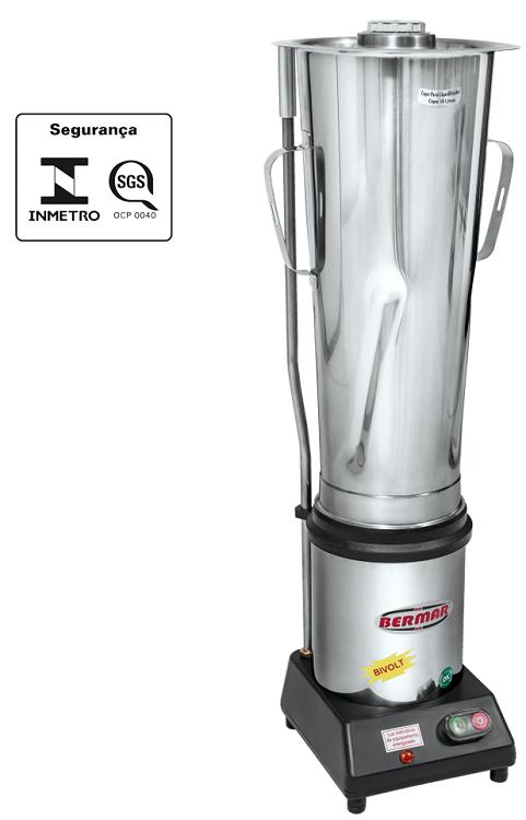 Liquidificador Triturador Industrial 10 Litros Motor 1/2 Hp com Sensor na Tampa Bermar - BM36NR S  - Carmel Equipamentos