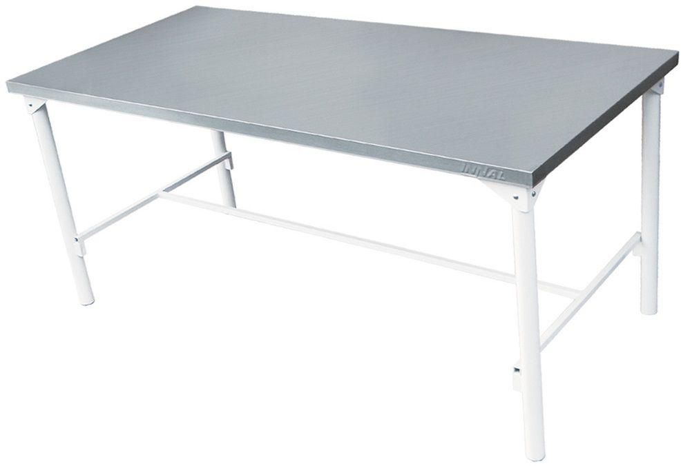 Mesa em Inox Innal 190x90 Contraventada Em H  - Carmel Equipamentos