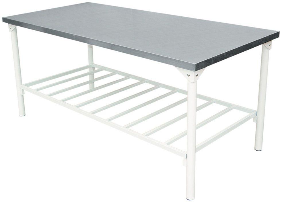 Mesa em Inox Innal 1,12x70 com Prateleira  - Carmel Equipamentos