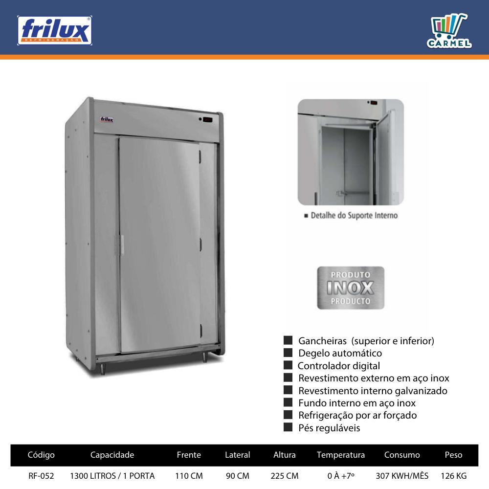 Mini Câmara Para Carnes Refrigeradora Para Açougue Inox 1300 Litros 1 Porta - Frilux  - Carmel Equipamentos
