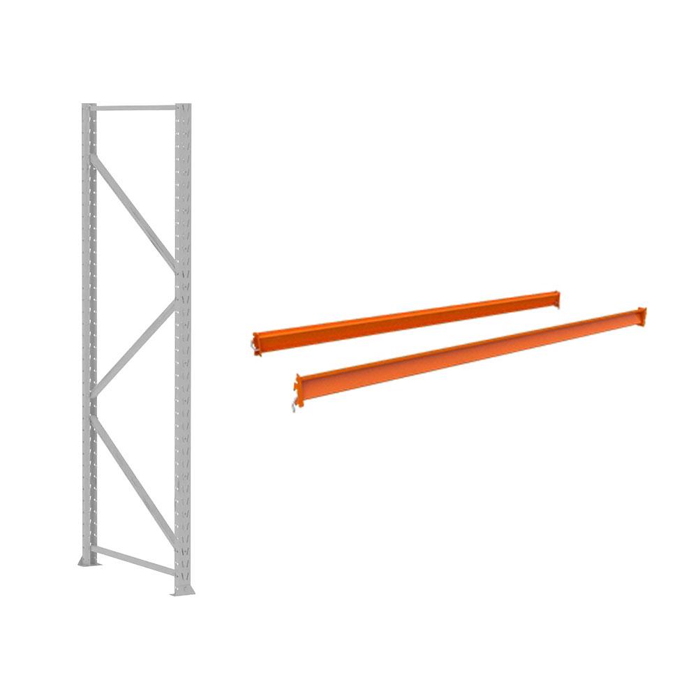 Mini Porta Pallet MPP250Kg Kit Inicial + Continuação 2,00 x 1,20 x 0,60 Com 3 Níveis Laranja Crist Sem Bandejas - Amapá  - Carmel Equipamentos