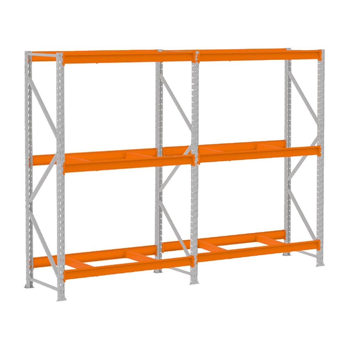 Mini Porta Pallet Mpp500 Kit Inicial + Continuação Laranja 2,00 x 1,80 x 0,80 Sem Bandejas 500 Kg - Amapá  - Carmel Equipamentos