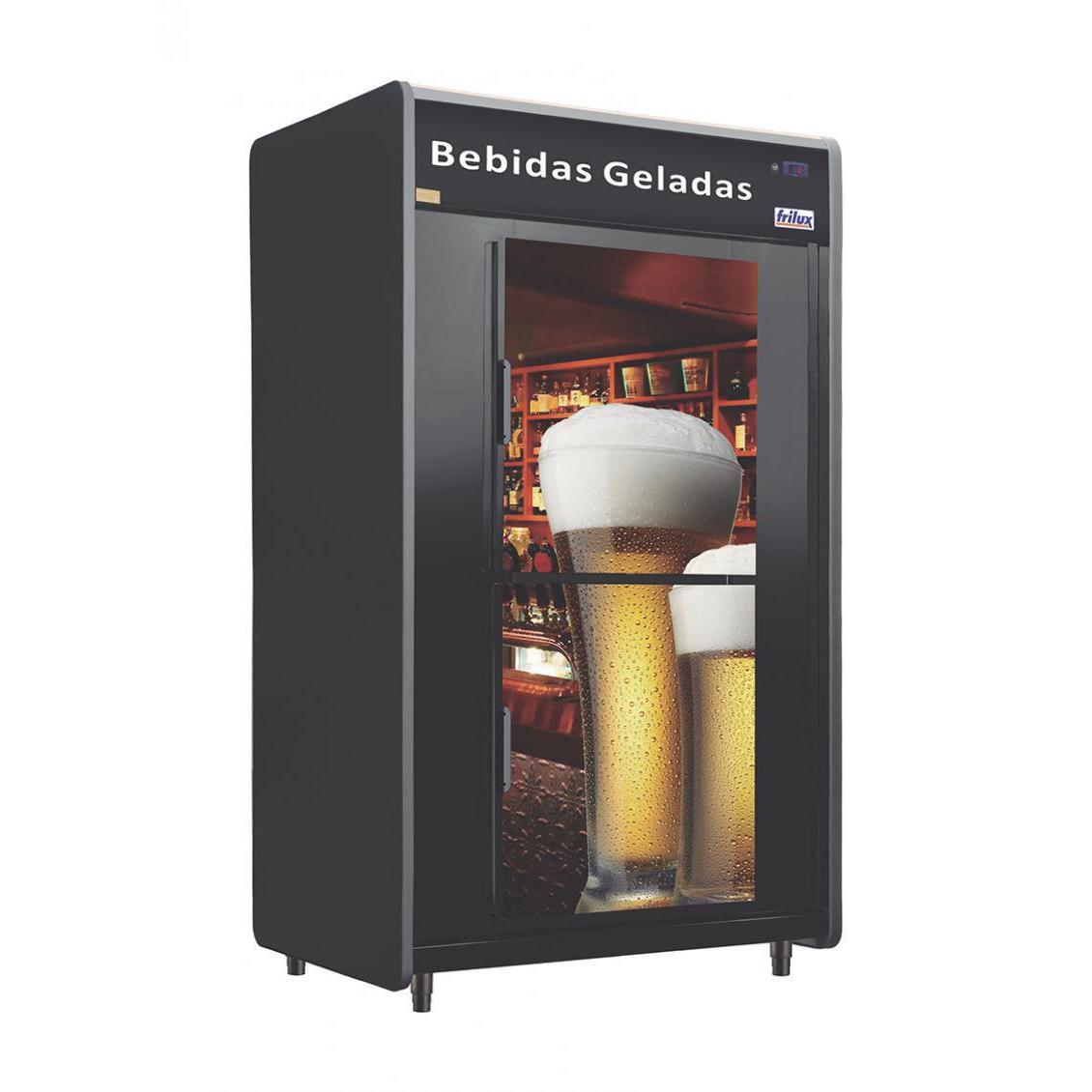 Minicâmara Para Bebidas RF053-Plus Cervejeira 480 Garrafas 20 Caixas Portas Cegas Adesivadas - Frilux  - Carmel Equipamentos