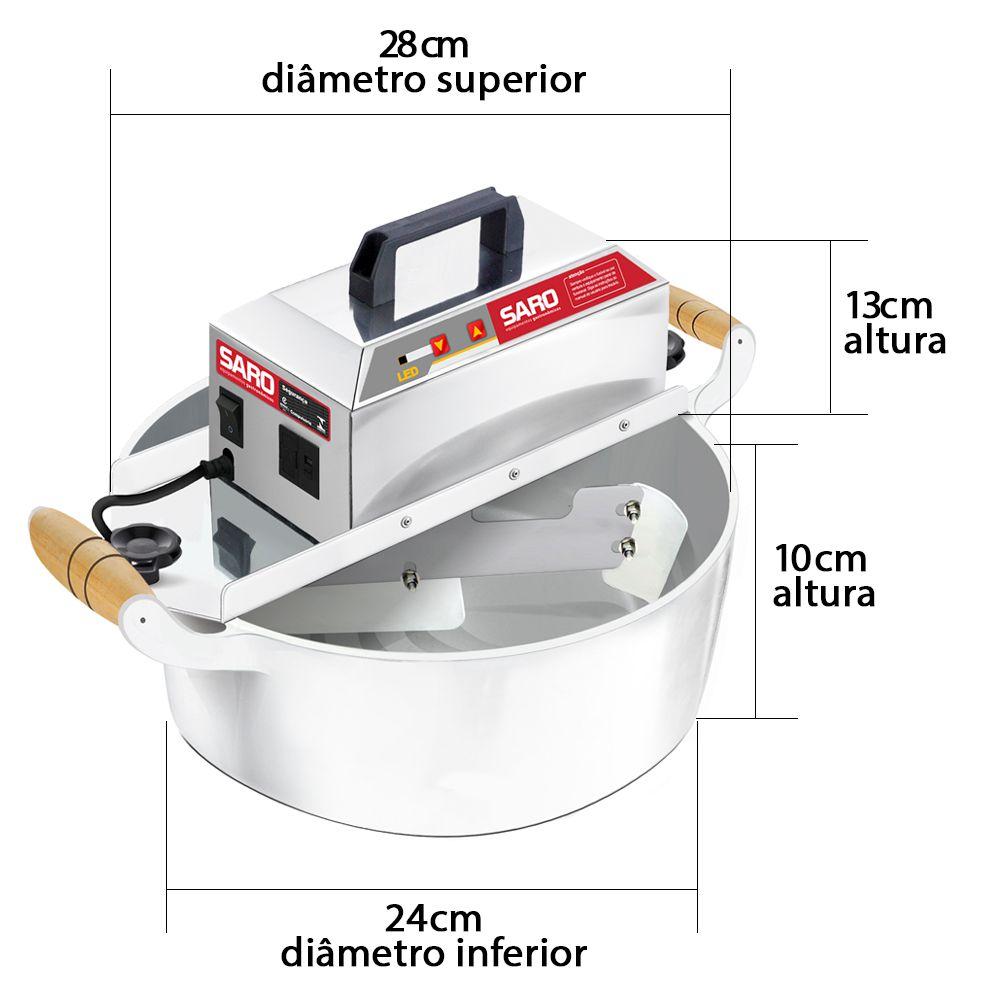 Misturador Elétrico Para Doces PA4 Bivolt Panela Automática 4 Litros Brigadeiro - Saro  - Carmel Equipamentos