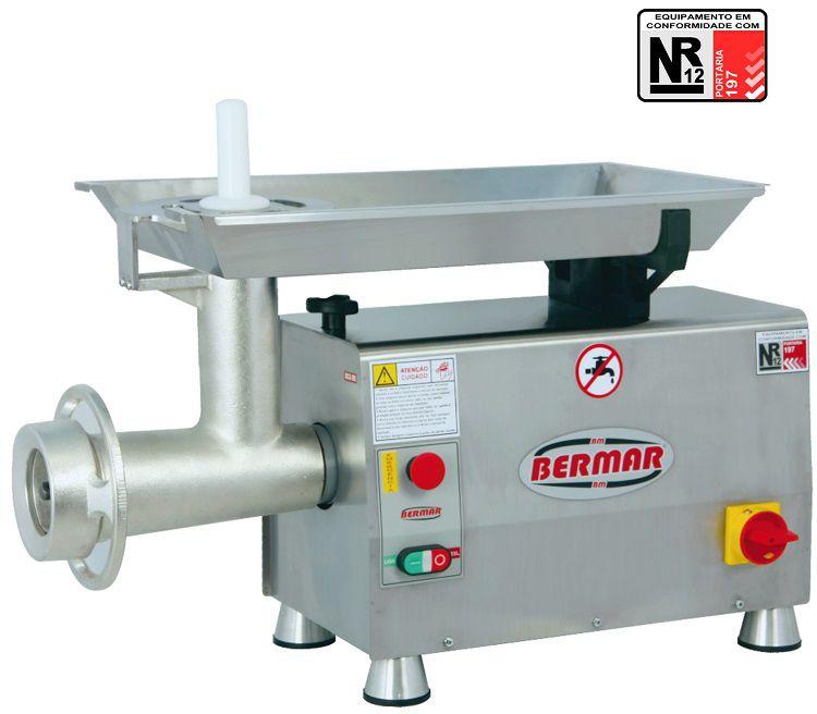 Moedor de Carne Bermar 700 KG/H Boca 98 Bocal em INOX 304 - BM90NR  - Carmel Equipamentos