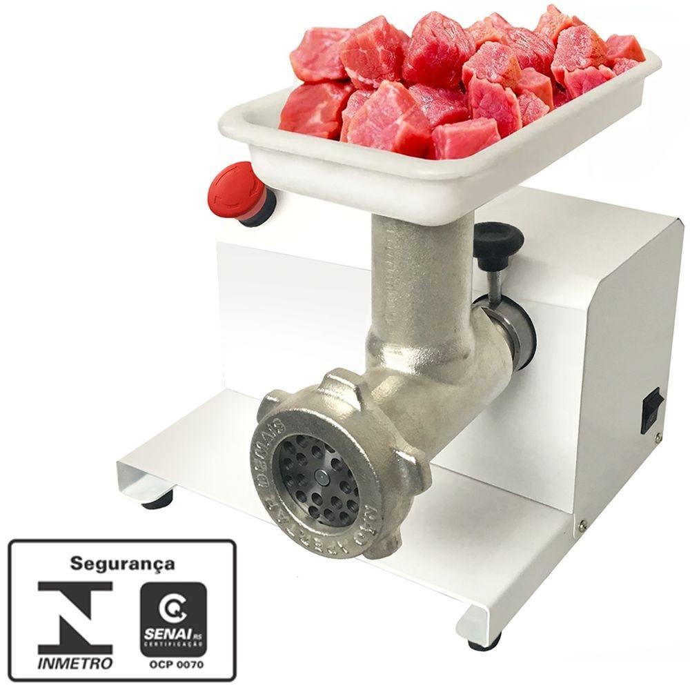 Moedor de Carne Elétrico Profissional 1/3Cv Epoxi Extrusor MEC Bivolt - Saro  - Carmel Equipamentos