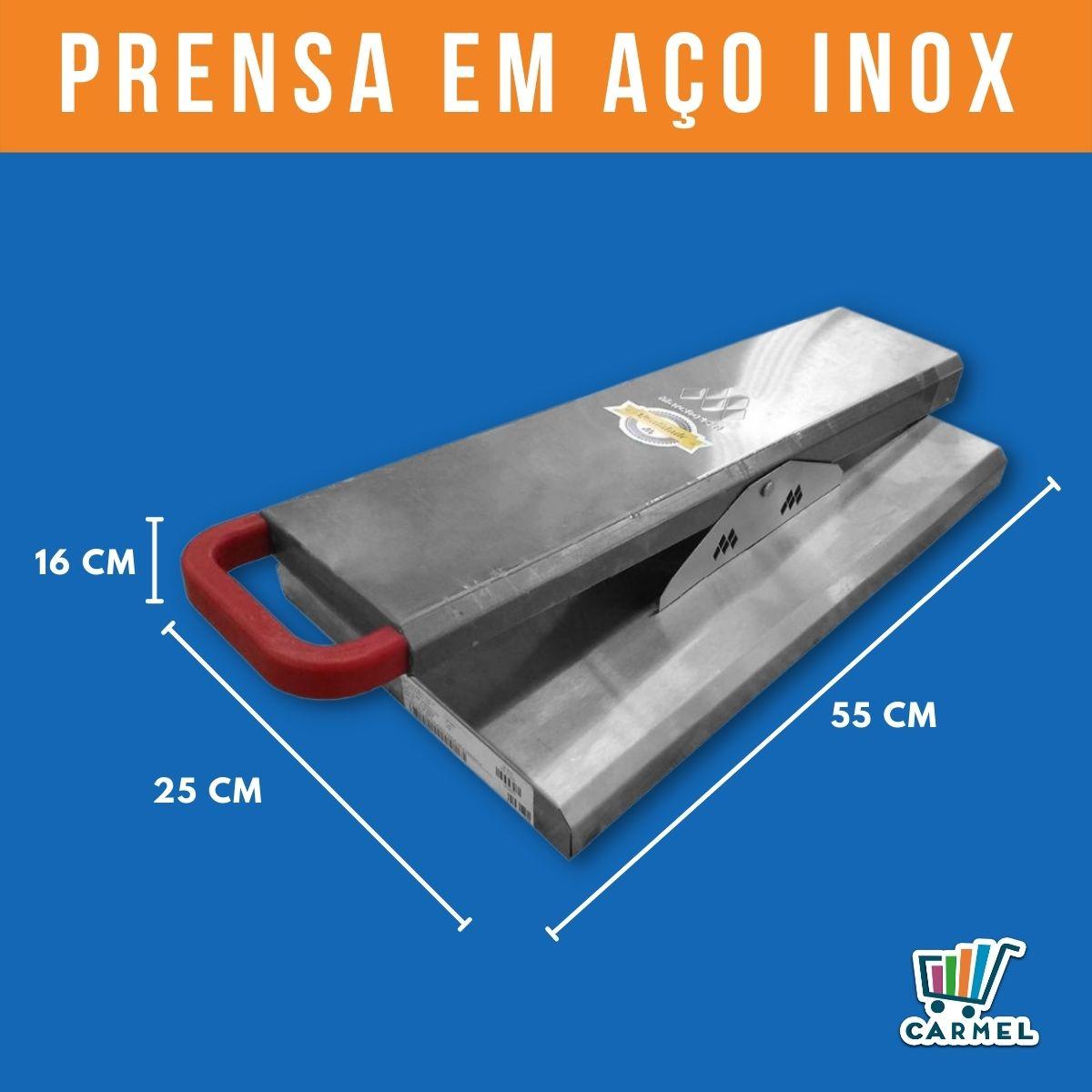 Prensa Chapa Inox Compatível Com Chapas 60x50 80x50 100x50 120x50 150x50 Marchesoni  - Carmel Equipamentos