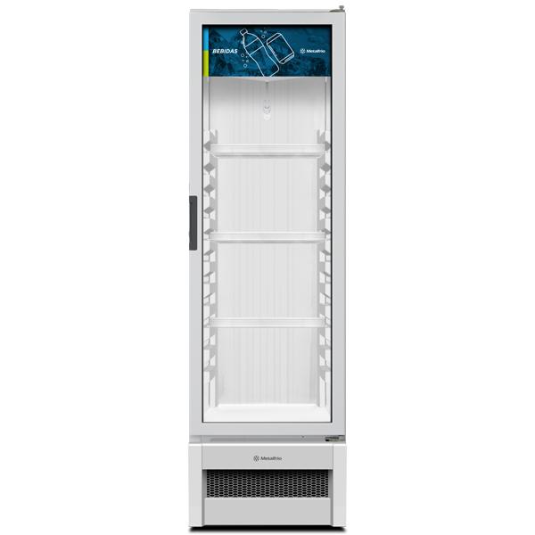 Refrigerador Expositor Geladeira Vertical Porta Vidro 324L Slim VB28R Branco R290 - Metalfrio  - Carmel Equipamentos