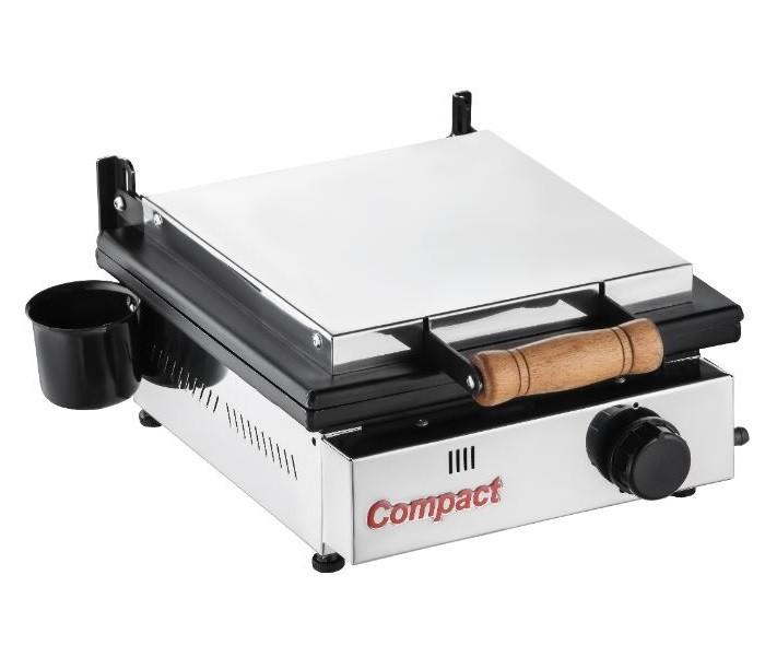 Chapa Sanduicheira Prensa Gás Glp 1 Queimador Baixa Pressão Sg30 Cold Compact  - Carmel Equipamentos