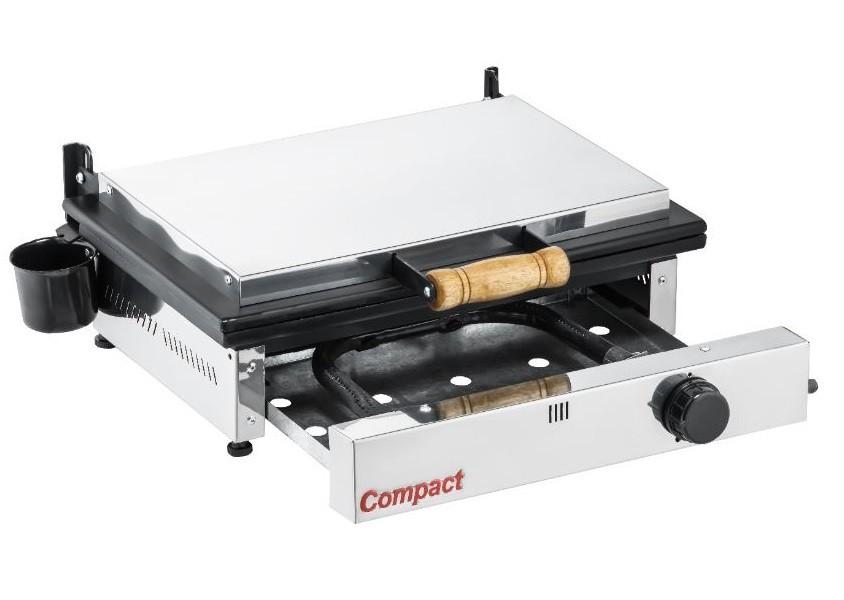 Chapa Sanduicheira Prensa Gás Glp 1 Queimador Baixa Pressão Sg45 Cold Compact  - Carmel Equipamentos