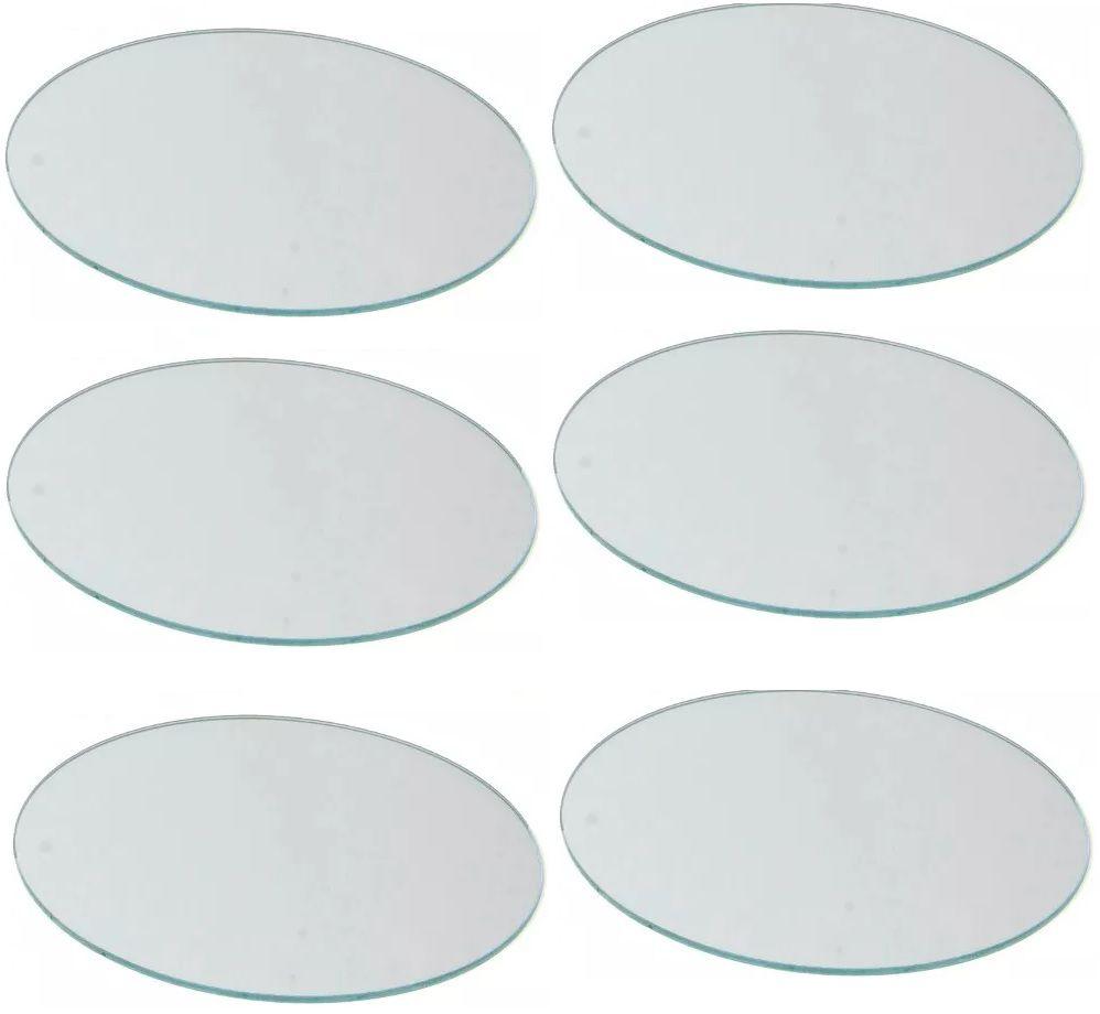 Sousplast Espelho Redondo 30 CM Vidro 3 MM Espessura  - Carmel Equipamentos