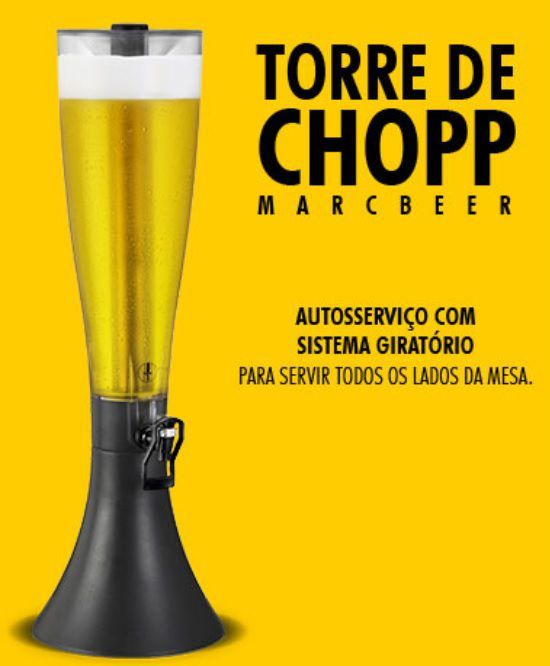 Torre de Chopp MarcBeer Marchesoni 3,5 Litros - MB.2.350  - Carmel Equipamentos