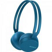 Fone de Ouvido Bluetooth WH-CH400/L Azul SONY Super Leve