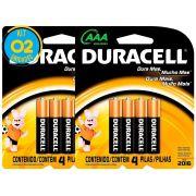 Pilha AAA Palito 1,5V MN2400 2 Cartelas DURACELL - 100% Original