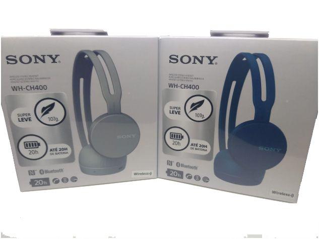 Fone de Ouvido Bluetooth WH-CH400/B Preto SONY  Super Leve