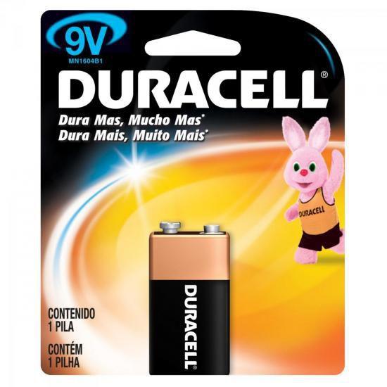 Kit com 5 baterias alcalina 9V Original Duracell