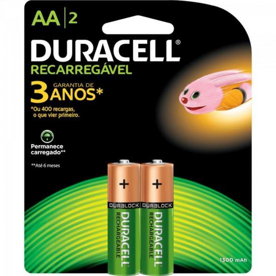 Pilha Recarregavel AA 1300mAh Duracell - 100% Original