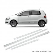 Jogo De Friso Volkswagen Gol Fox Voyage Branco Cristal Tipo Original