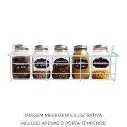 Porta Condimentos Temperos Multiuso Aramado Preto