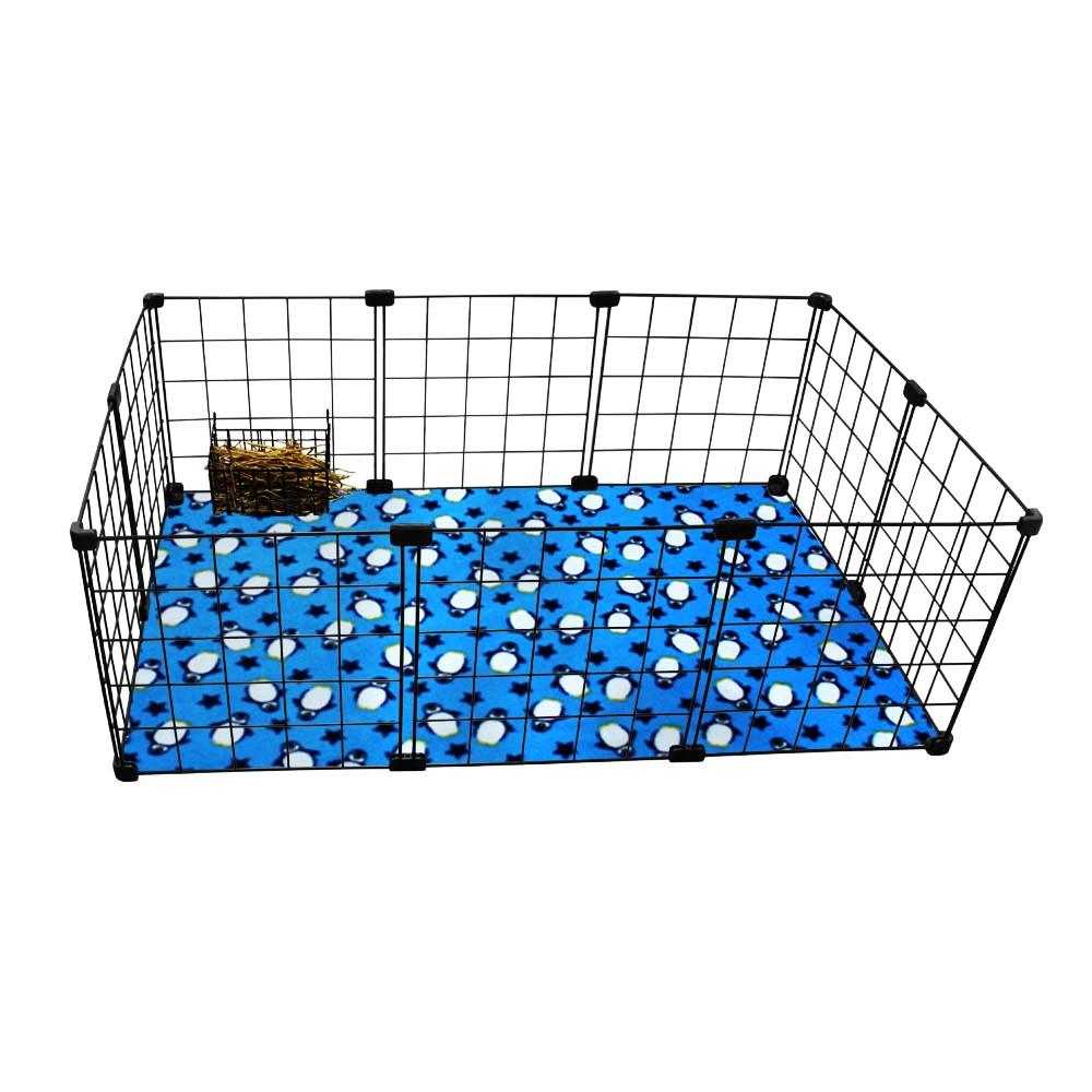 Cercado Aramado Porquinho Da ÍNdia 60x90 Cm Com Porta Feno E Soft Preto