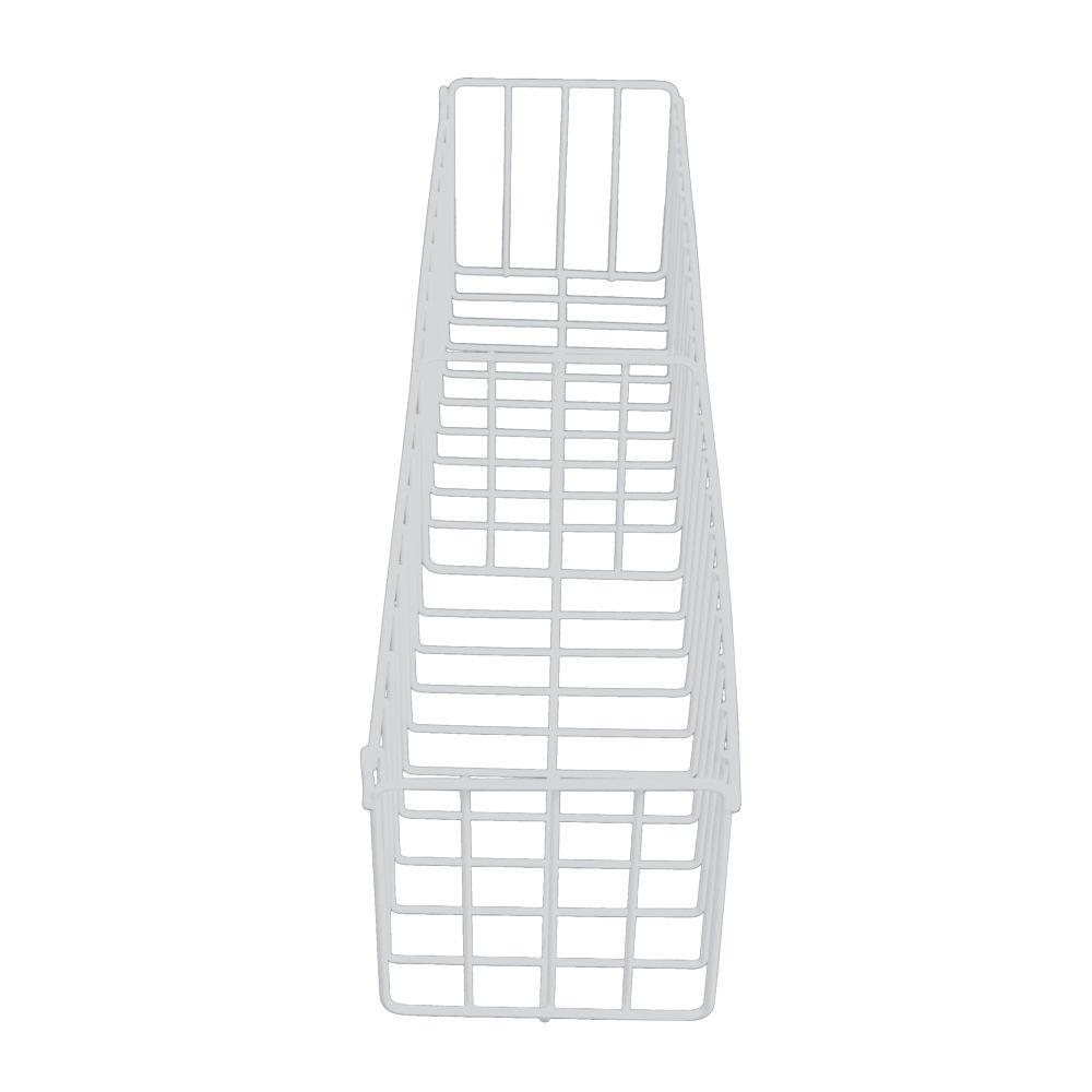 Cesto Fruteira  Em Aço Aramado Branco N6