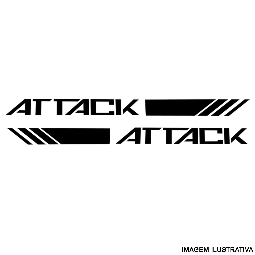 Conjunto De Faixa Adesiva Attack Preta Nissan Frontier 2017-2019 Original