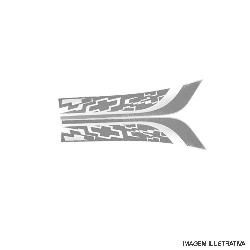 Conjunto De Faixas Decorativas Cinza Onix Chevrolet Original
