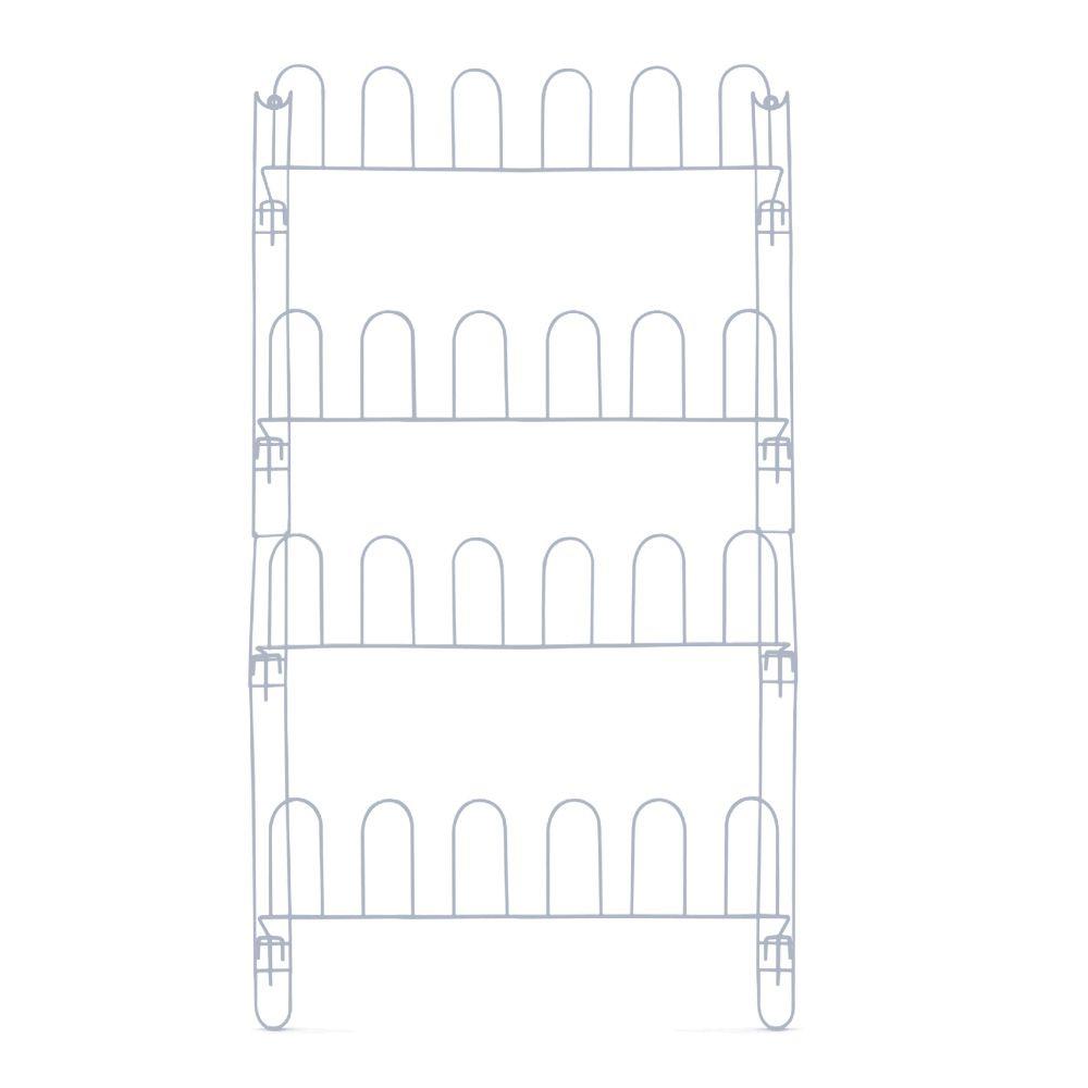 Kit 02 Sapateira de Porta ou Parede em Aço Aramado Branco