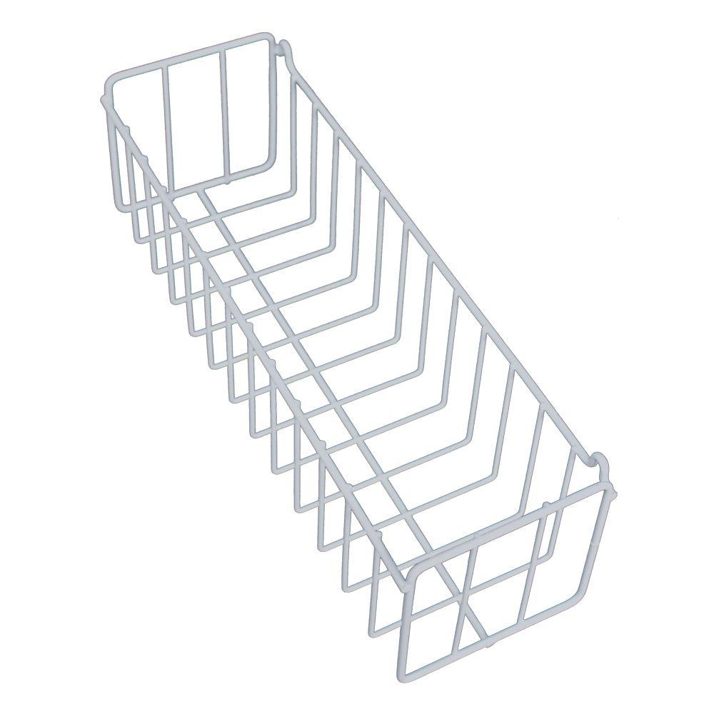 Kit 03 Cestos de Parede Lavanderia Cozinha Quarto N1 Branco