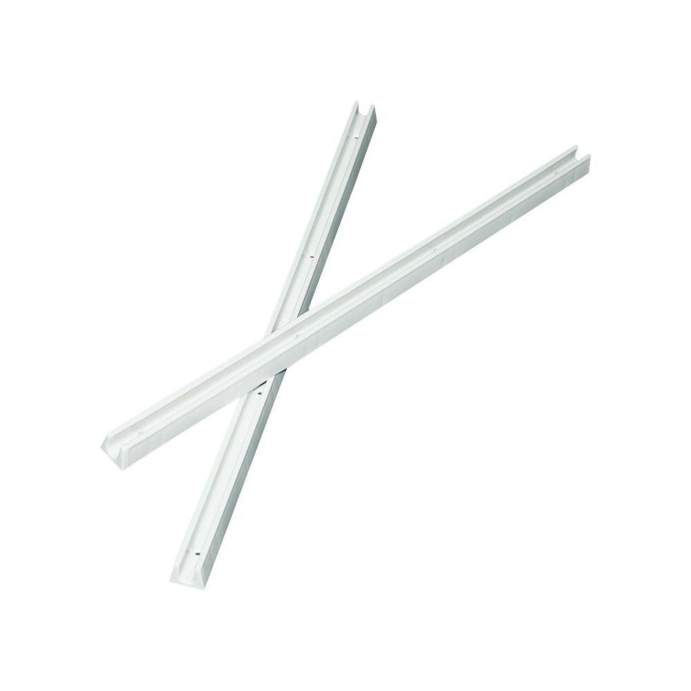Par de Corrediças Plásticas para gavetas e Prateleiras