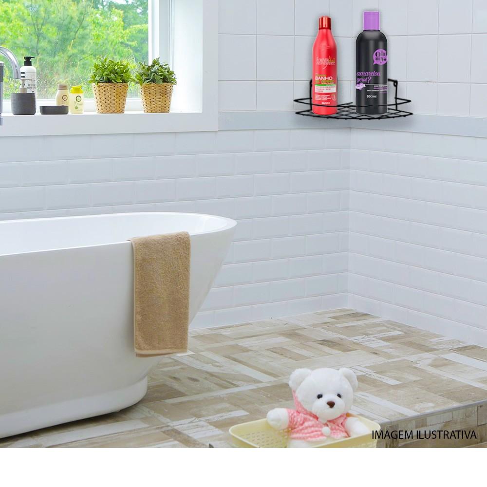 Porta Shampoo De Canto Simples Preto