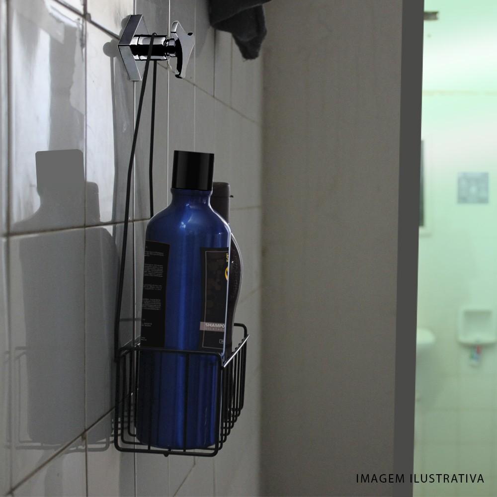 Porta Shampoo Simples Preto