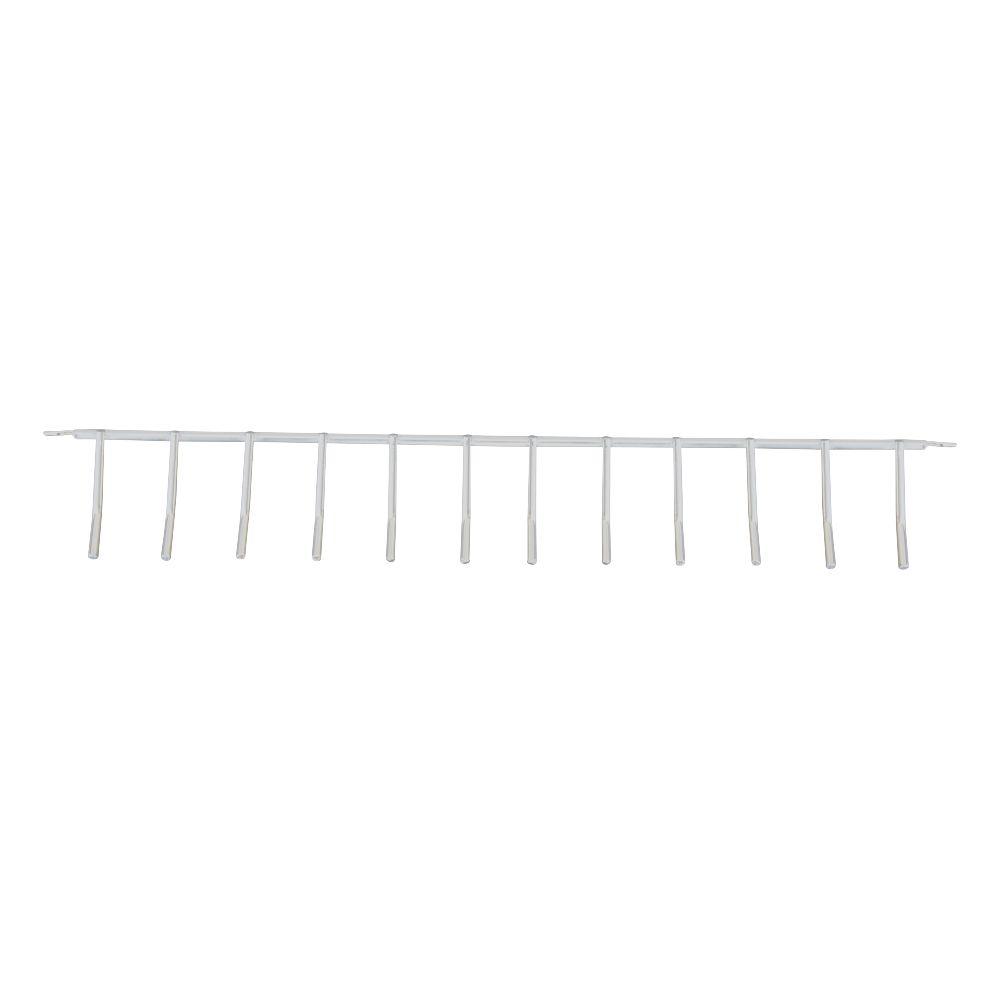 Porta Vassouras Aramado de Parede para 12 unidades Branco